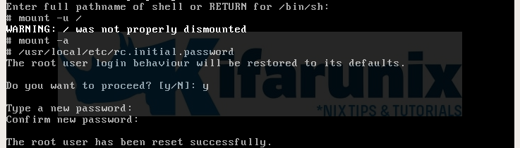 How To Reset Or Recover Root Password On OPNsense - kifarunix com