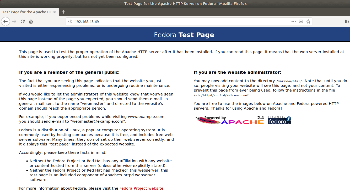 Apache-test-page
