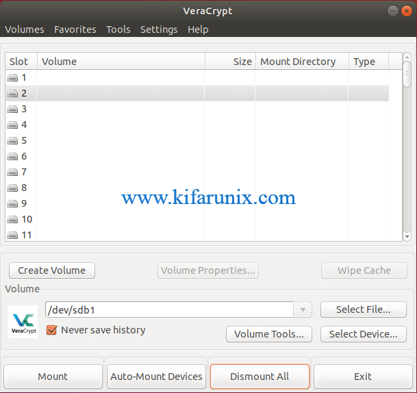 How to Install and Use VeraCrypt to Encrypt Drives on Ubuntu 18.04