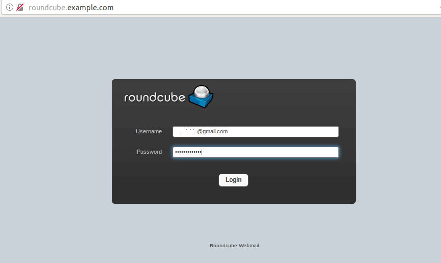 roundcube gmail login page