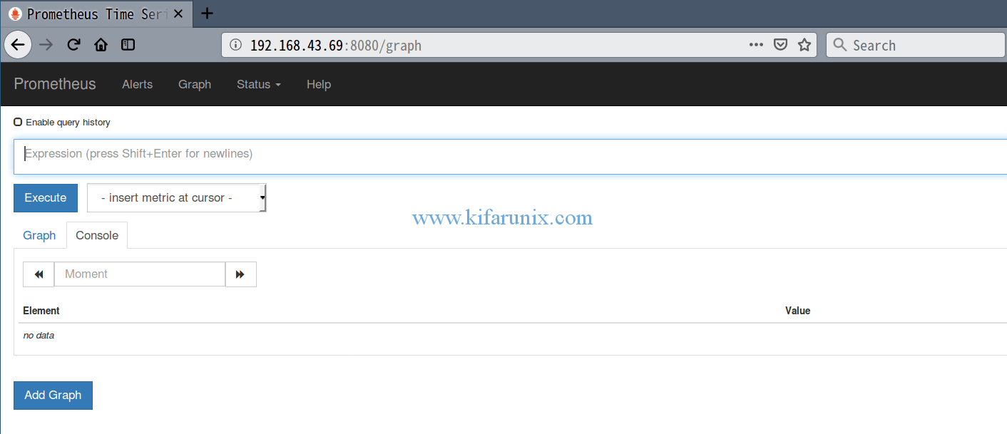Install and Configure Prometheus on Fedora 29/Fedora 28 - kifarunix com