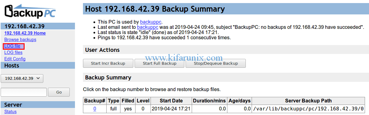 Backup Windows System via SMB Using BackupPC - kifarunix com