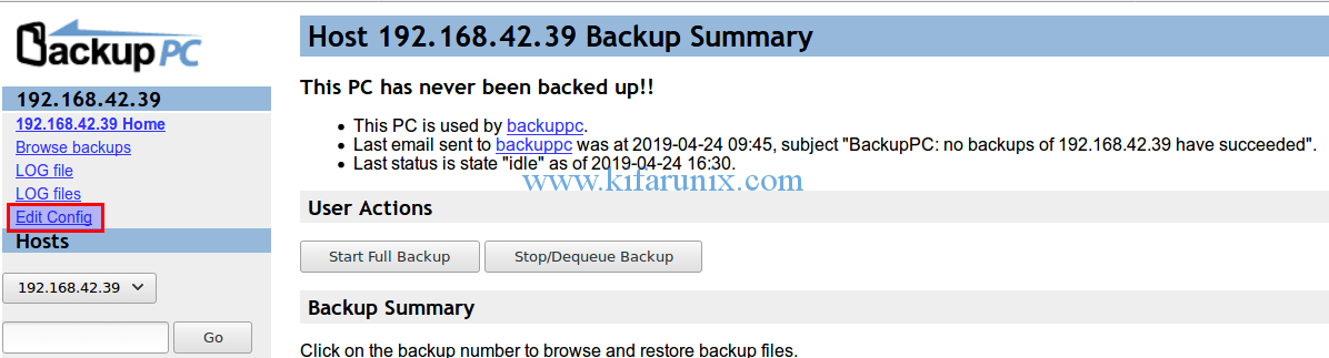 backup Windows system using BackupPC