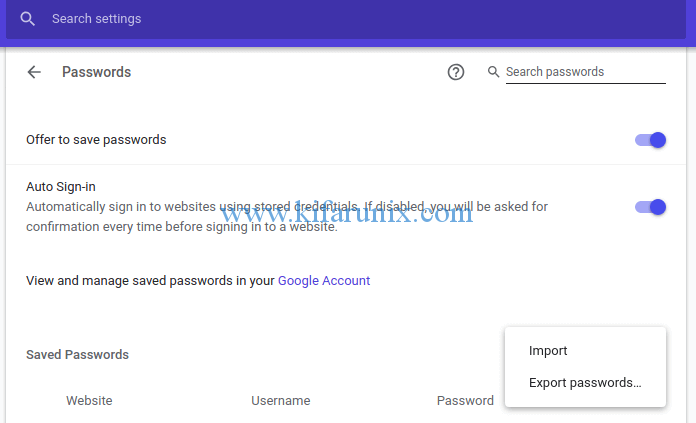 import saved passwords from Firefox to Chrome on Ubuntu 18.04