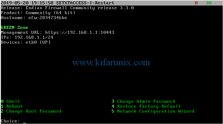Install and Configure Endian Firewall on VirtualBox
