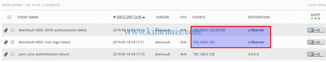 Fix AlienVault HIDS Events Displaying 0.0.0.0 as IP Address