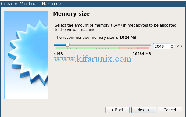 set virtualbox RAM size