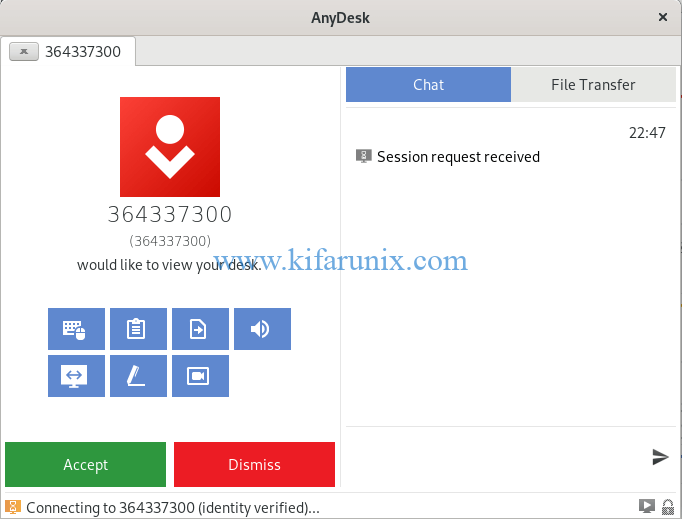install AnyDesk on Fedora 30/29/CentOS 7