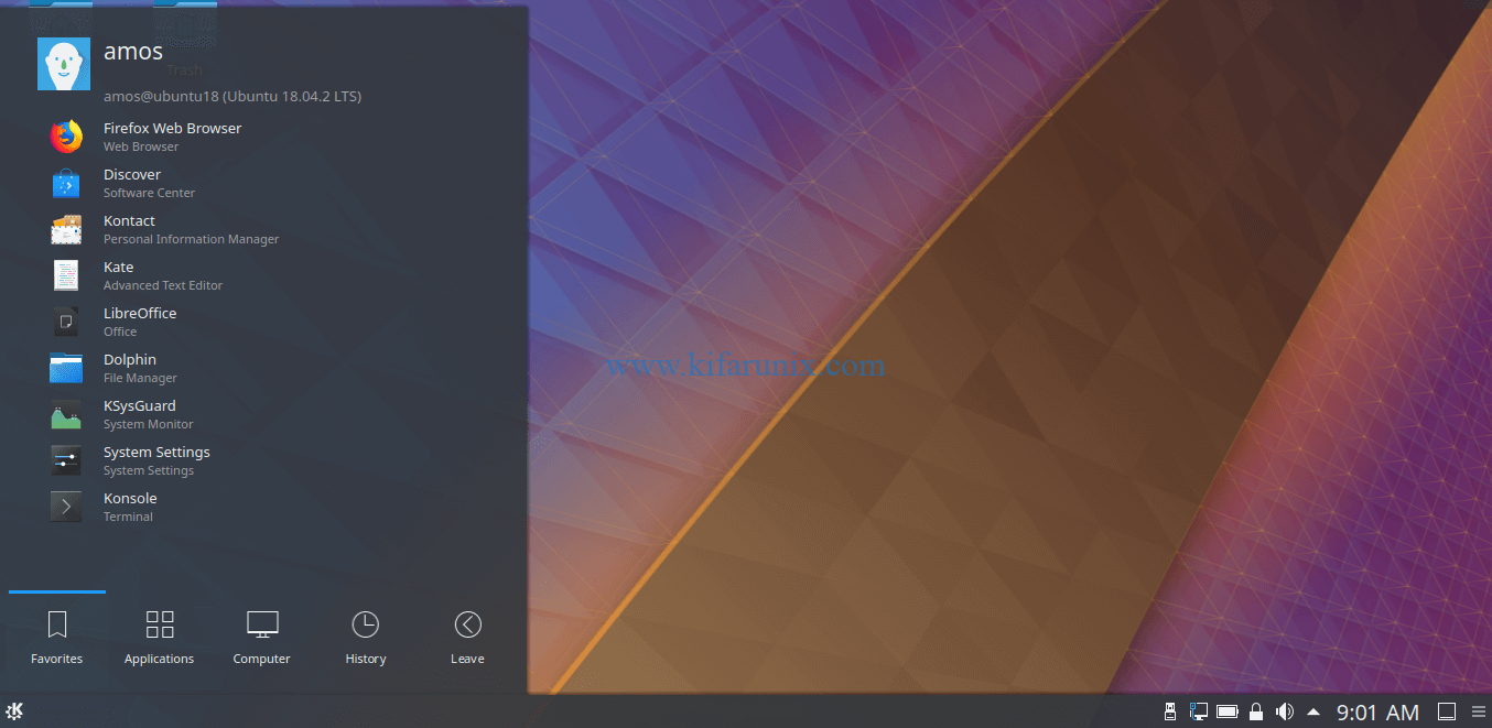 KDE Plasma Desktop on Ubuntu 18.04