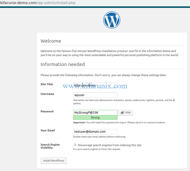 install WordPress 5 with Nginx on Fedora 30/Fedora 29