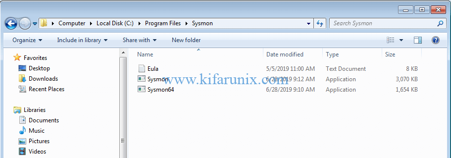 Install Sysmon on Windows 7