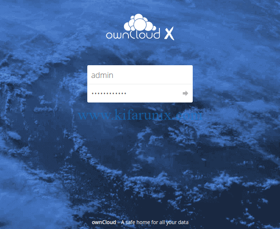 ownCloud login on Debian 10 Buster