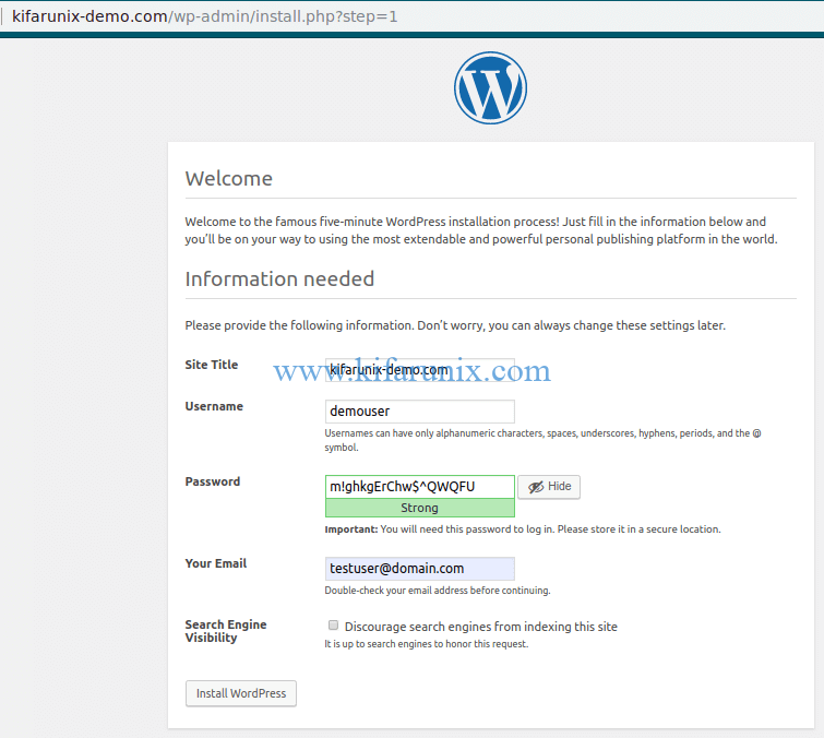 configuring WordPress on Debian 10 Buster
