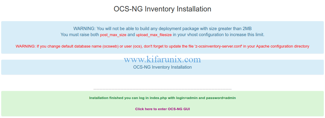 OCS-NG Inventory Installation