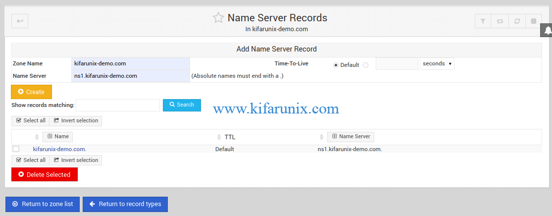 Bind Name Server Records