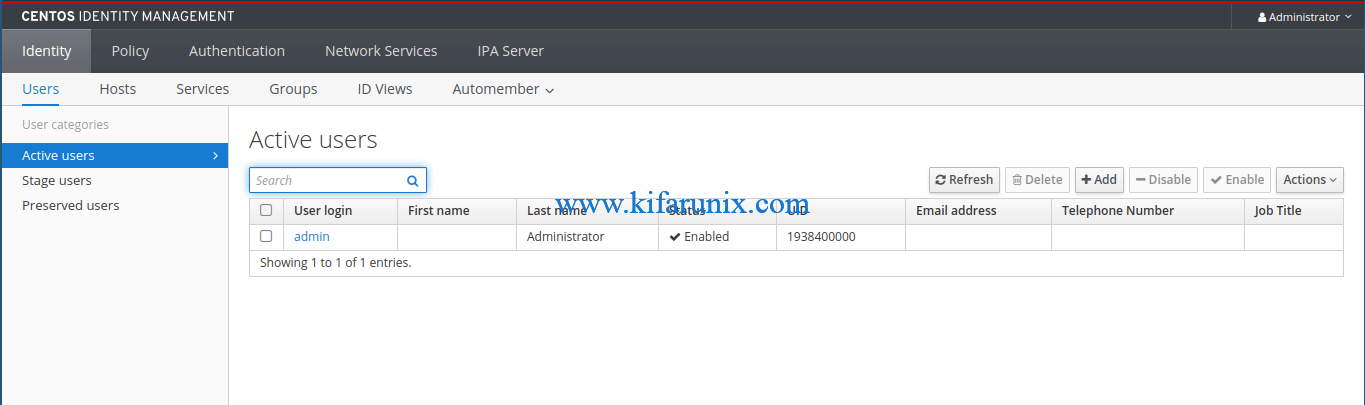 Install and Setup FreeIPA Server on CentOS 8