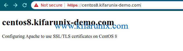 Configure Apache with SSL/TLS Certificates on CentOS 8