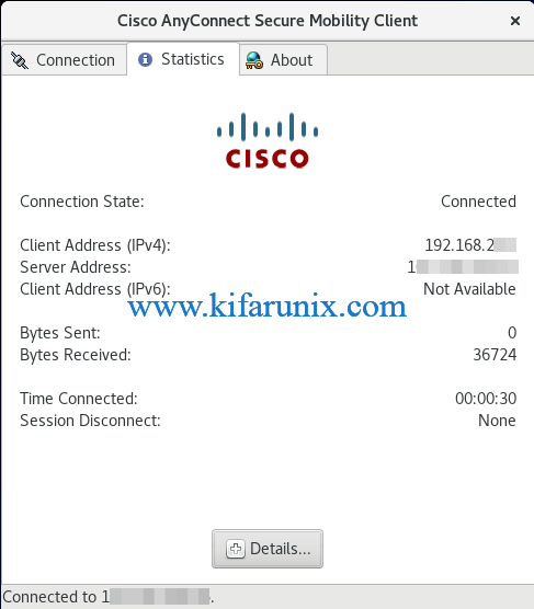Install Cisco AnyConnect Client on CentOS 8