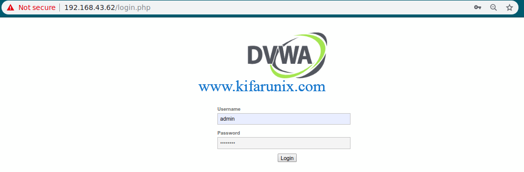 Setup DVWA on Debian 10