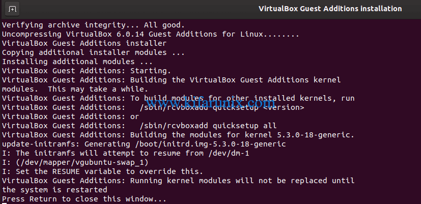 Install VirtualBox Guest Additions on Ubuntu 20.04