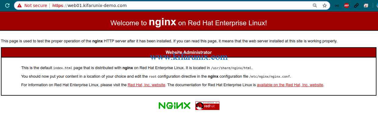 Configure Nginx with SSL/TLS certificates on CentOS 8