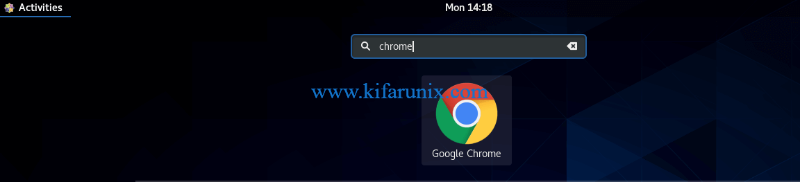 Install Google Chrome Browser on CentOS 8