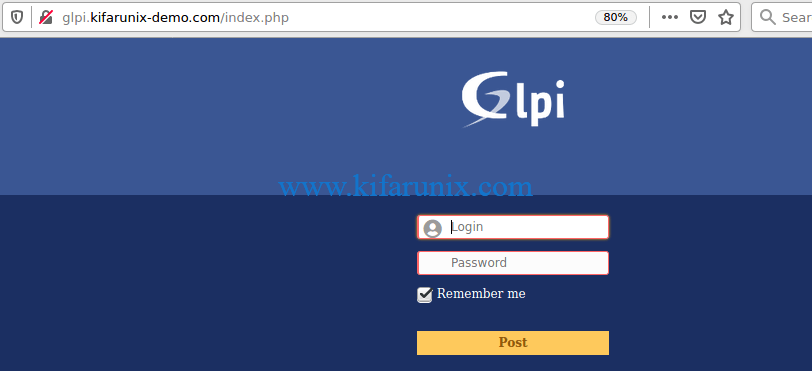 Install GLPI ITSM Tool on CentOS 8