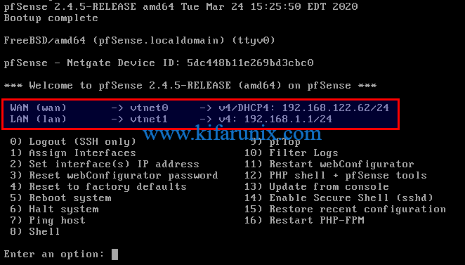 Install pfSense Firewall on KVM