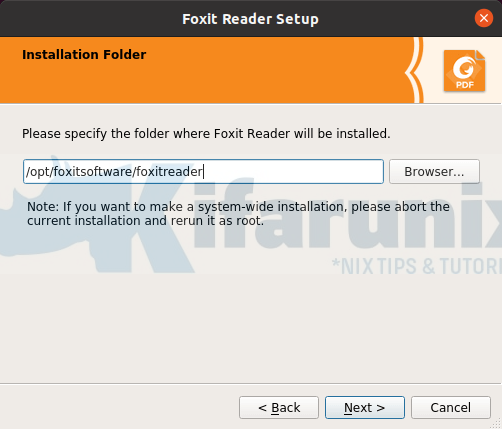 Install Foxit PDF Reader on Ubuntu 20.04