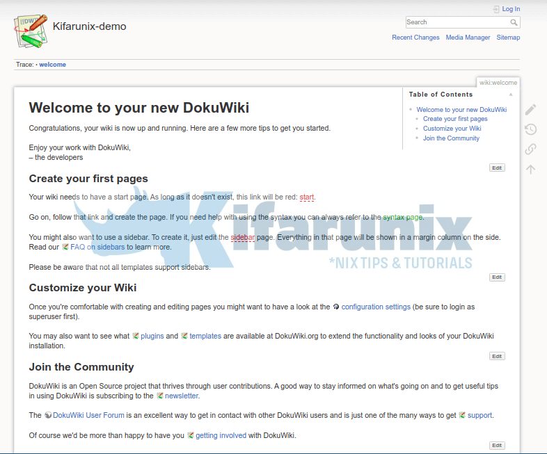 Install and Setup DokuWiki on Ubuntu 20.04