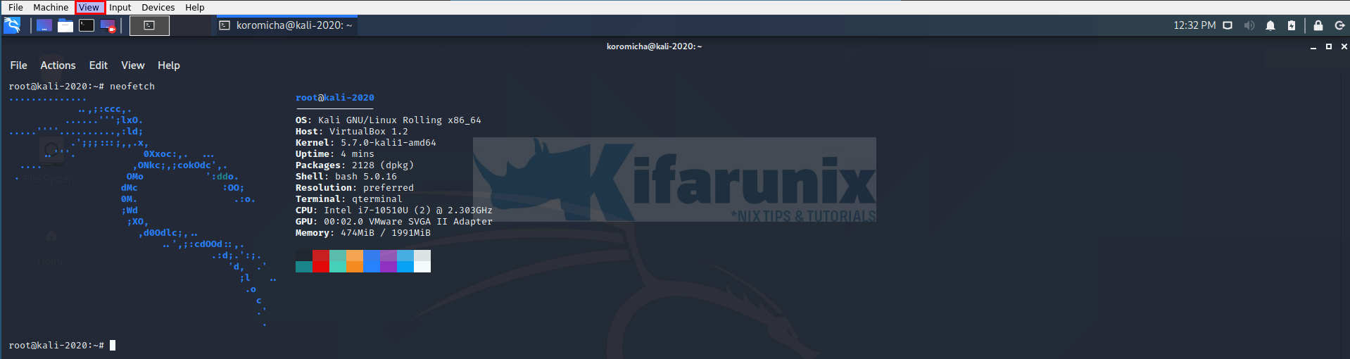Install VirtualBox Guest Additions on Kali Linux 2020.3