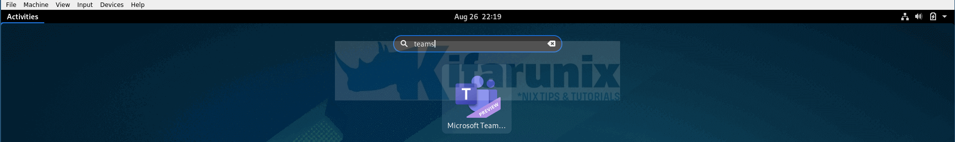 Install Microsoft Teams Client on Fedora 32/31/30