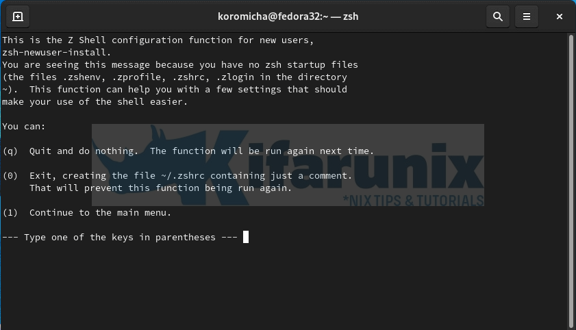 Install and Setup ZSH and Oh-My-Zsh on Fedora 32