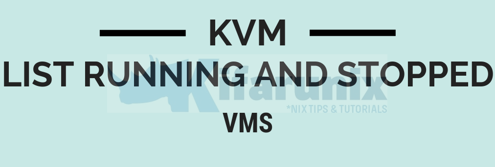 List Running and Stopped VMS on KVM