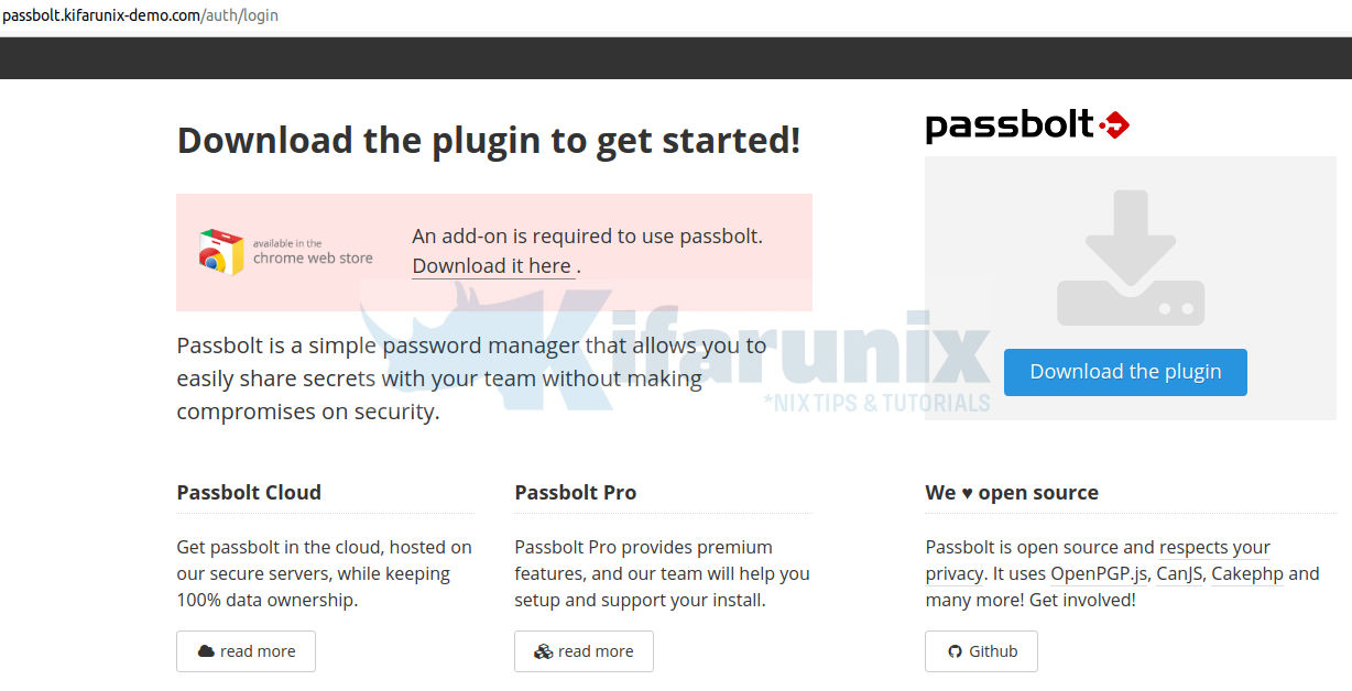 Install Passbolt Password Manager on Debian
