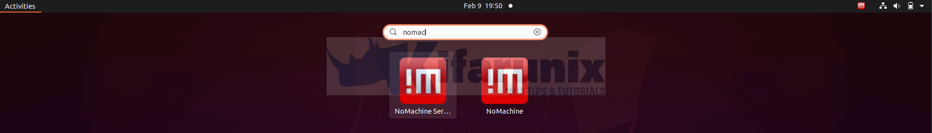 Install NoMachine on Ubuntu 20.04