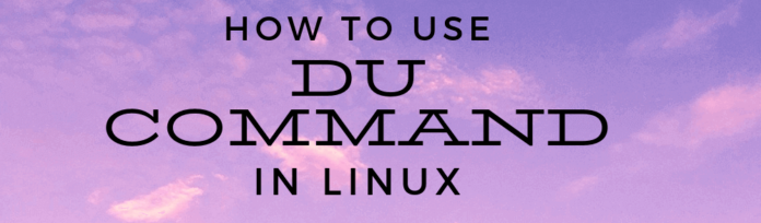 Check directory usage with du Command in Linux