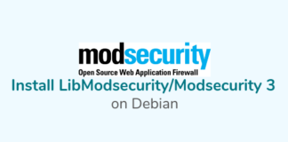 Install LibModsecurity with Apache on Debian 10