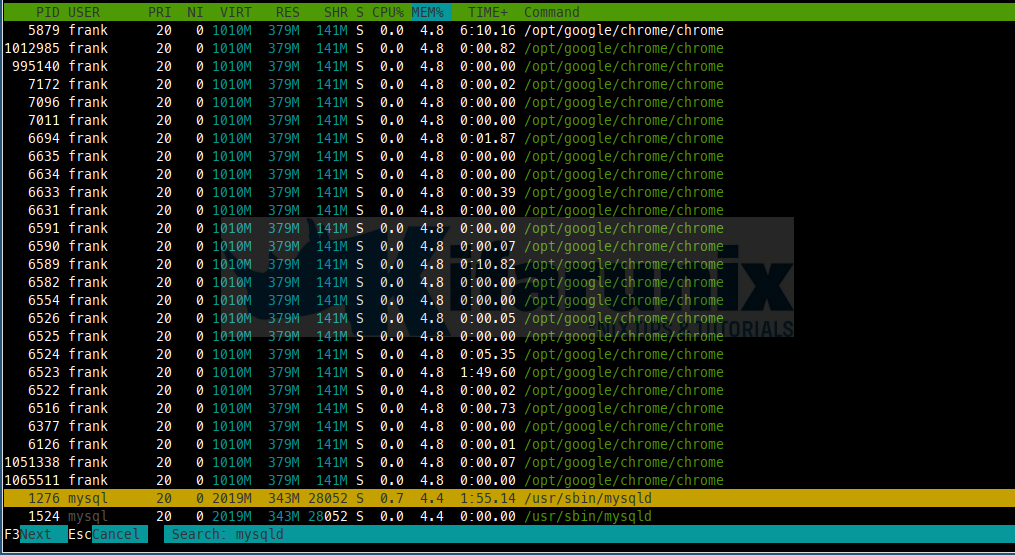 How to use htop Command in Linux
