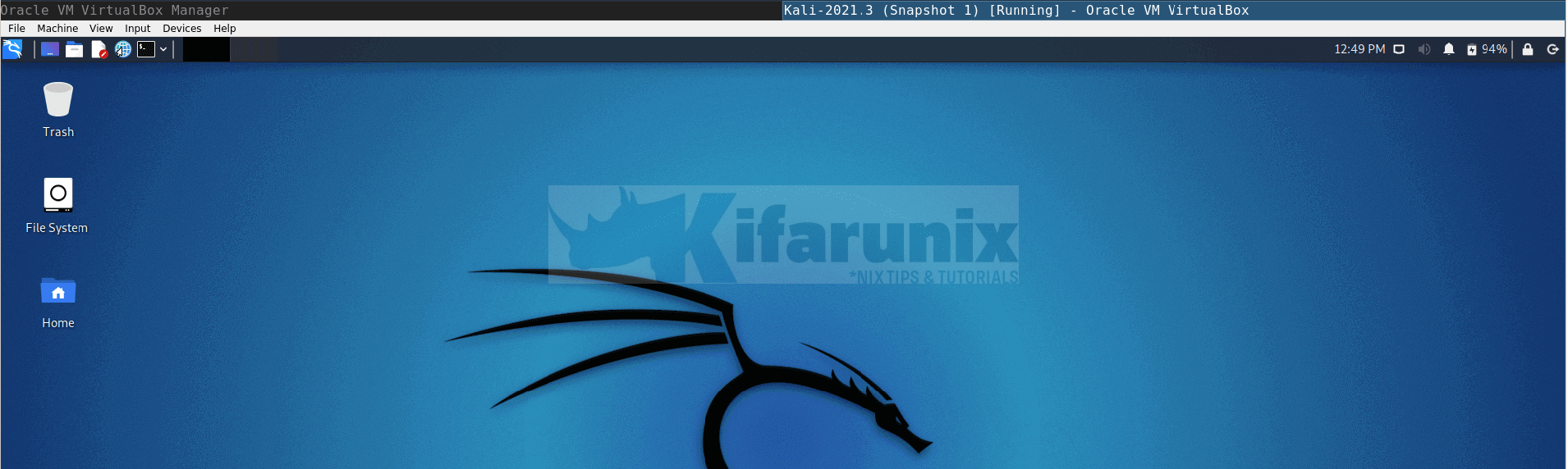Install VirtualBox Guest Additions on Kali Linux 2021.3